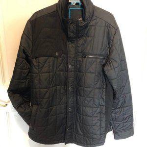 Hurley Men's Black Quilted Jacket  Size L